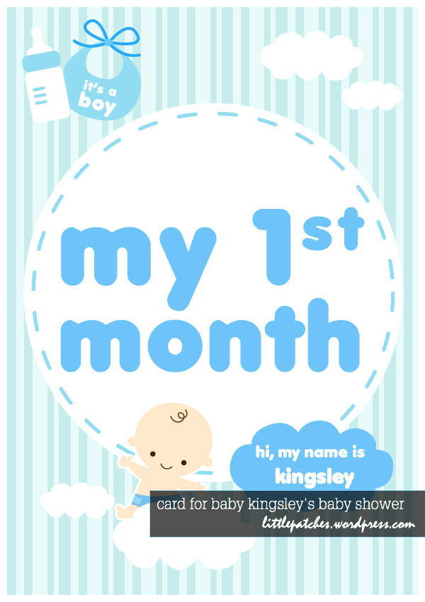 Card for Baby Kingsley