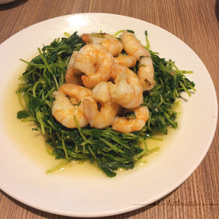 Din Tai Fung - Stir Fry Dou Miao with Shrimps