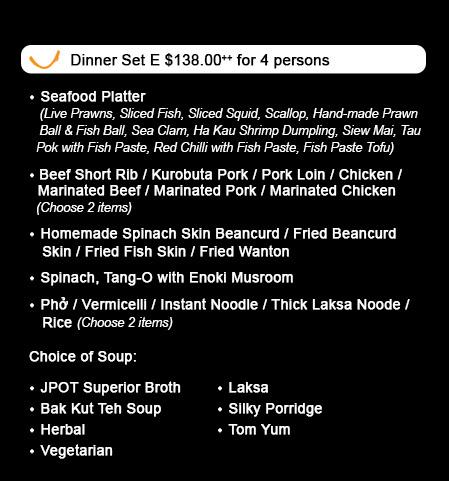 JPOT - Dinner Set E