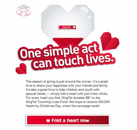SingTel Fold a Heart