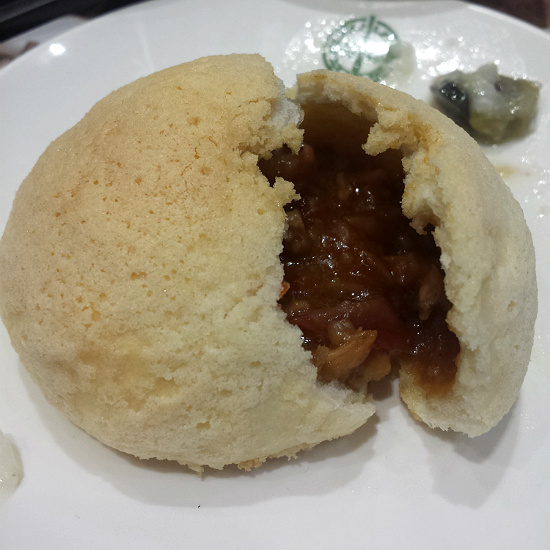 Char Siew Bun Close Up