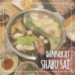 Steamboat Dinner at Shabu Sai (Orchard Central)