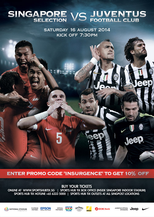 Juventus FC vs Singapore Selection 2014