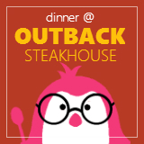 Late dinner at Outback Steakhouse (Millenia Walk)
