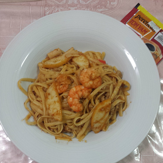 Homecooked Tom Yum Pasta